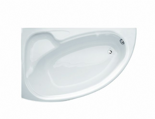Roca Devina Corner Bath 1550mm x 950mm Right Handed 2 Tap Holes White